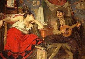 Pintura de José Malhoa, O Fado